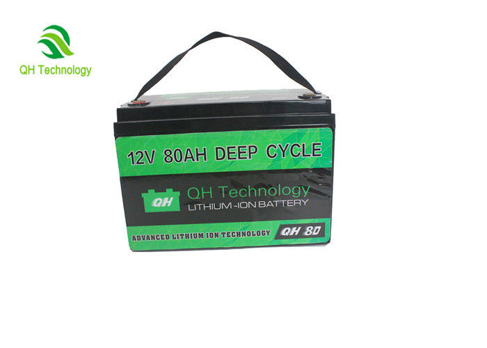 Light Weight 12V 80AH LFP Battery Pack For Air Quality Monitoring , Mobile Information Communication